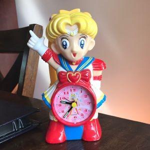 VTG Sailor Moon Anime Alarm Clock 90s Keeps Time